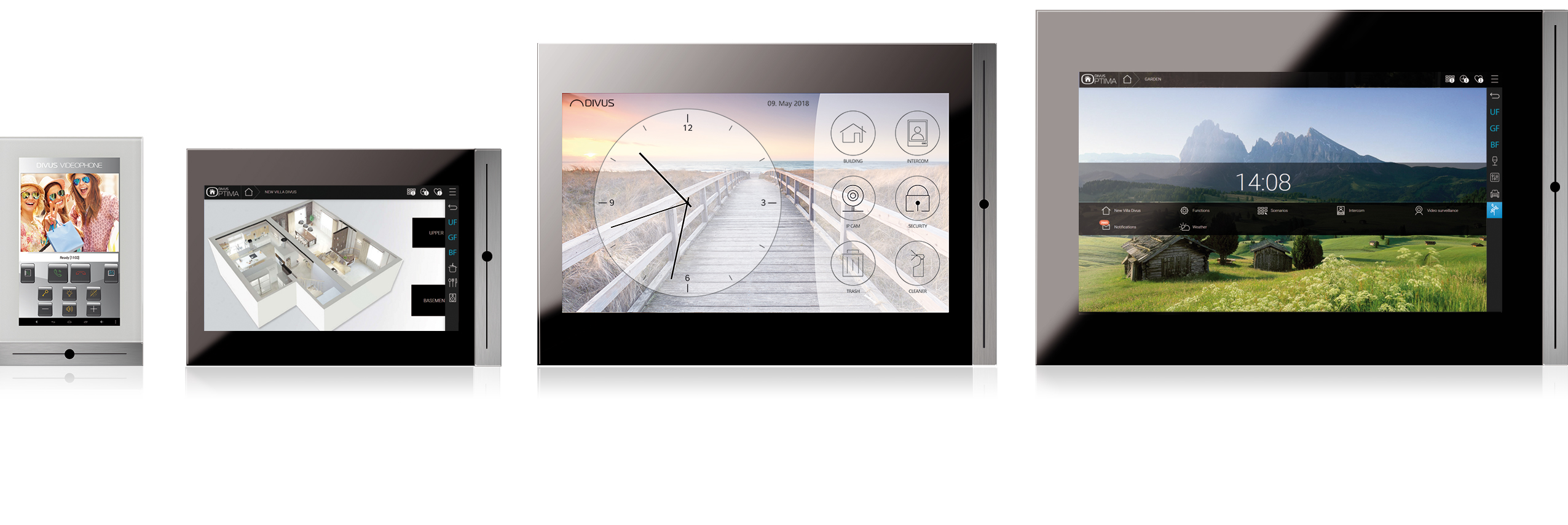 DIVUS TOUCHZONE touchpanel for more comfort and design - DIVUS